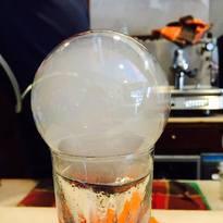 bolla di fumo alla vaniglia da accompagnare con un vodka Martini tabaccoso