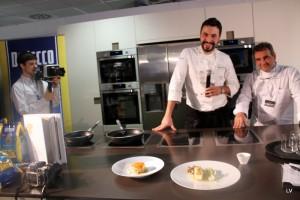 Riccardo Bassetti illustra i suoi piatti per il Bocuse d'Or a Sanremo