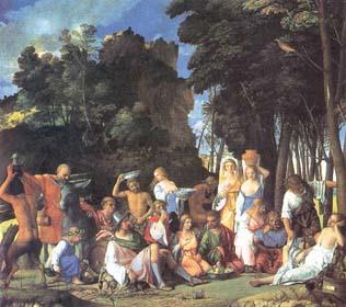 Festino degli dei, 1514, cm.170x188, Washington, National Gallery of Art