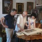 2009,Maurizio Governatori nello studio del Maestro Goffredo Trovarelli