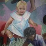 Michilini 1987, IL BUON GOVERNO, particolare con il ritratto di Maria Estelì Michilini, CEMOAR, Managua, Nicaragua.