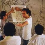L'Architetto Tino Sartori tra gli studenti