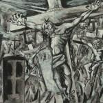 1980  CROCIFISSIONE, bozzetto per la CHIESA S.MARTINO-FERNO-VARESE cm.24x26