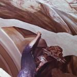 1983 Bergoro di Fagnano Olona, dipingendo l'affresco nell'abside