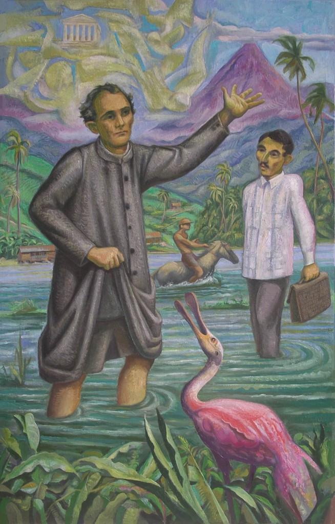 Sergio Michilini, AZARIAS H. PALLAIS Y PABLO ANTONIO CUADRA, 2009, oleo sobre tela, cm.125×80