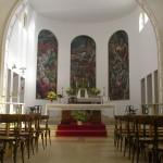 1982 Trittico Murale nell'abside della Chiesa Parrocchiale di Castelnovate, Vizzola Ticino, Varese, Italia