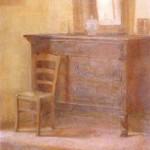 CASSETTONE ANTICO, 1943, olio su tela, cm.60x45