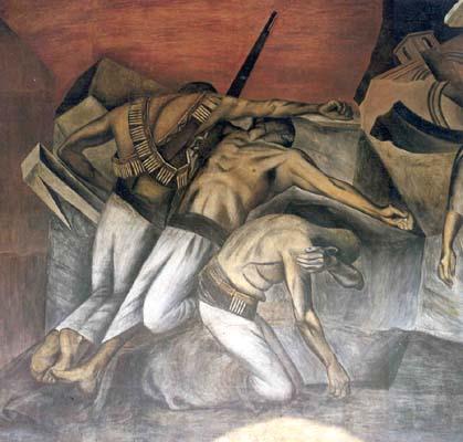 La trincea , 1926 -1927, Scuola Nazionale Preparatoria, Città del Messico