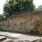 Lo que queda del mural de Minero en el Parque de Las Madres