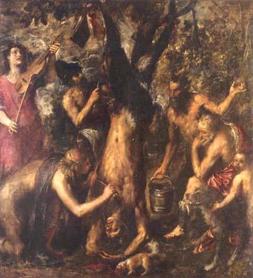 La punizione di Marsia, 1570, olio su tela, cm 212x207, Kromeriz, Museo Nazionale