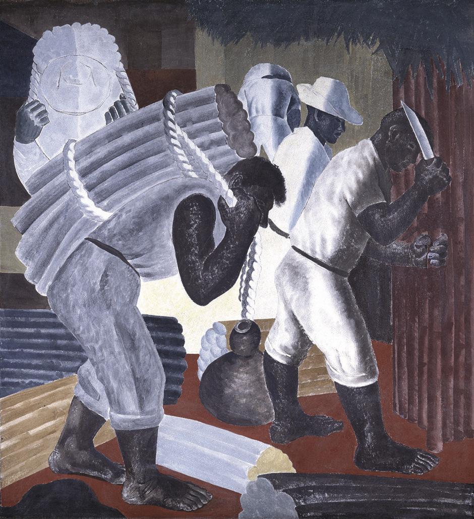 Candido Portinari CANNA DA ZUCCHERO 1938 affresco nel Palacio Gustavo Capanema, Rio de Janeiro, Brazil