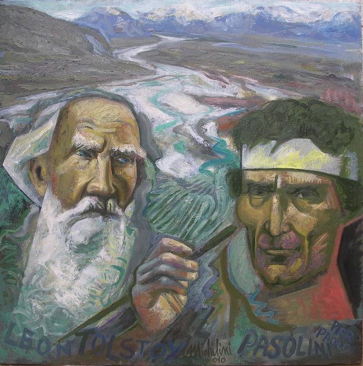 Sergio Michilini, GLI SCOMUNICATI, 2010, olio su tela, cm.80x80