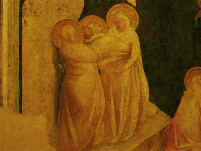 Crocifissione, (1345) particolare, (già in S.Biagio in Caprile) Urbino, Galleria Nazionale delle Marche.