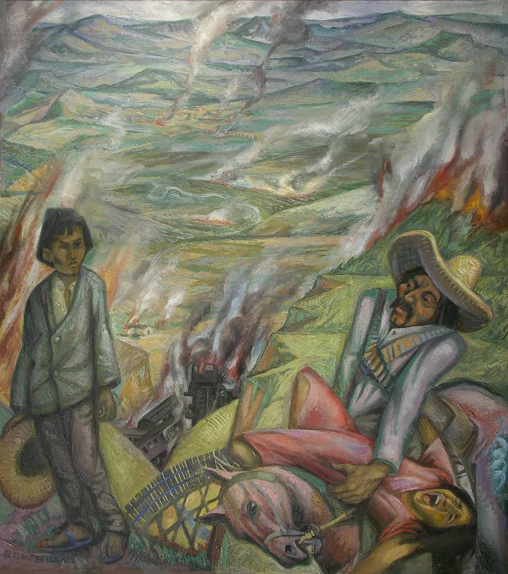 EL LLANO EN LLAMAS, 2011, OLIO SU TELA DI LINO, cm.90x80