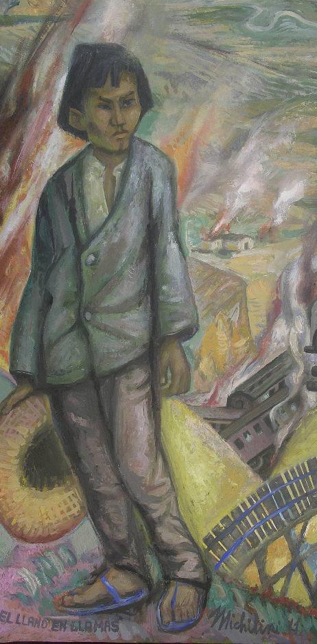 EL LLANO EN LLAMAS (particolare), 2011, OLIO SU TELA DI LINO, cm.90x80