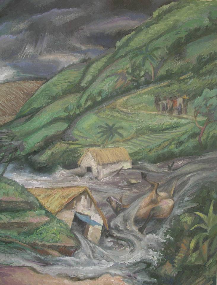 """""""ES QUE SOMOS MUY POBRES"""", 2011, olio su tela di lino, cm60x75, particolare"""