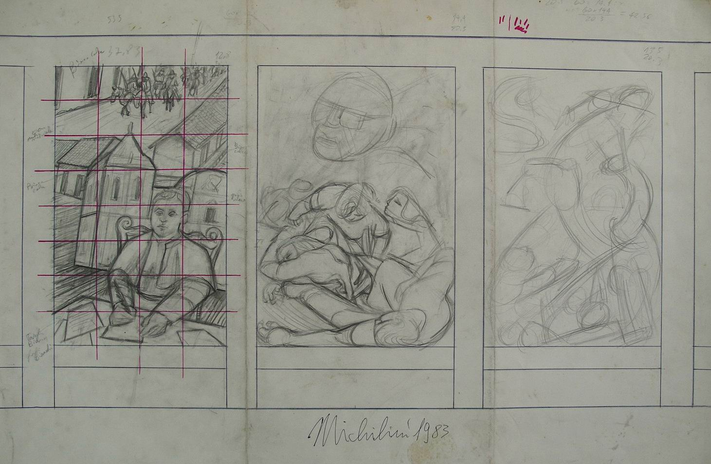 1983-47-trittico-murale-di-monsromero-bozzetto-riguro-managua-cm70x50