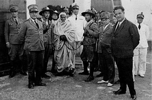 OMAR MOKHTAR, IL LEGGENDARIO GUERRIGLIERO LIBICO, ARRESTATO DAI FASCISTI ITALIANI