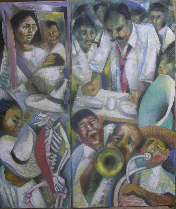 15-sergio-michilini-el-dia-del-derrumbe-juan-rulfo-el-llano-en-llamas2010-dipticooleo-sobre-tela-de-lino-y-canamo-cm80x68