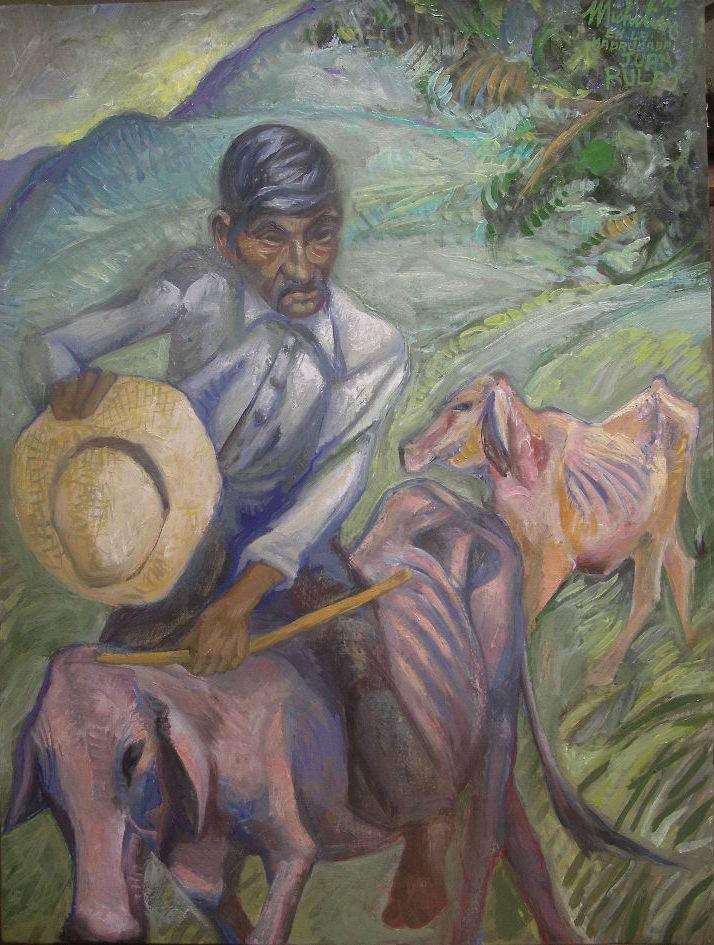 5-sergio-michilini-en-la-madrugada-juan-rulfo-el-llano-en-llamas-2010-oleo-sobre-tela-de-lino-cm80x60