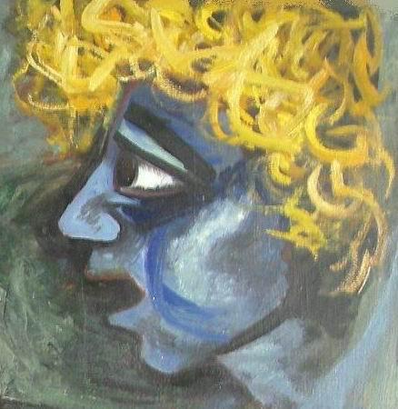Sergio Michilini, 1980, ACQUA E CATENE, olio su tela, cm91x105, particolare
