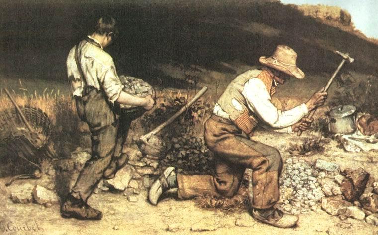 """GUSTAVE COURBET """"GLI SPACCAPIETRE"""" (1849)"""