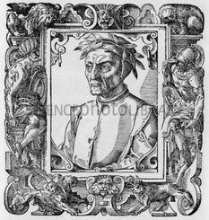 Dante Alighieri, incisione antica