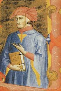 Dante Alighieri, miniatura antica
