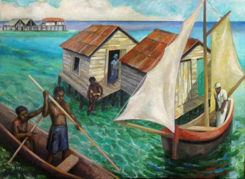10 - CAYOS MISKITOS N.3, 2016, óleo-tela, cm.60×85 $ 10,000 USD