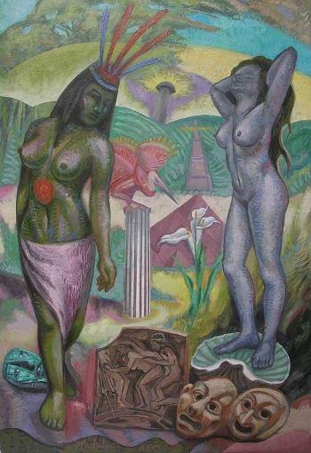 12 – EL CAMINO DE LA BELLEZA, 2012, óleo-tela, cm.80x55 $ 5,000 USD