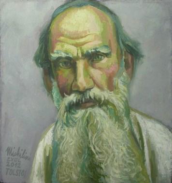 29 – RETRATO DE LEV TOLSTOJ, 2012, óleo-tela, cm.42×39 $ 5,000 USD