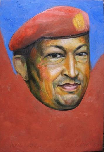 41 - RETRATO DE HUGO CHAVEZ FRIAS, 2015, óleo-tela, Cm 60 x 40 $ 4,000 USD