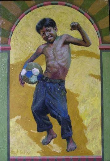 43 – JUDAS EN EL MUNDIAL DE FUTBOL, 2006, óleo-tela, cm.80x55 $ 8,000 USD