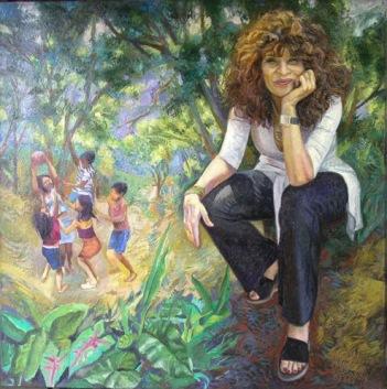 46 – RETRATO DE GIOCONDA BELLI, 2006, óleo-tela, cm.80x80 $ 10,000 USD
