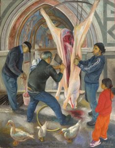 65 - Sergio Michilini, 'NU PUORCO ACCISO, 2017, olio su tela, cm.95×75 U$D 15,000