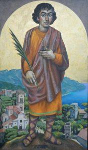68 - Sergio Michilini, SAN PANTALEONE DI RAVELLO, 2017, olio su tela, cm.110×65 U$D 12,000