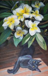 71 - Sergio Michilini, EL SACUANJOCHE Y NEGRY, 2016. Óleo sobre tela, cm.80×50 U$D 8,000