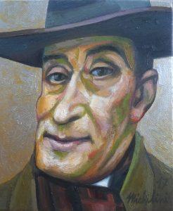 74 - Sergio Michilini, RITRATTO DI TOTÓ, 2017, olio su tela, cm.31×25 U$D 6,000