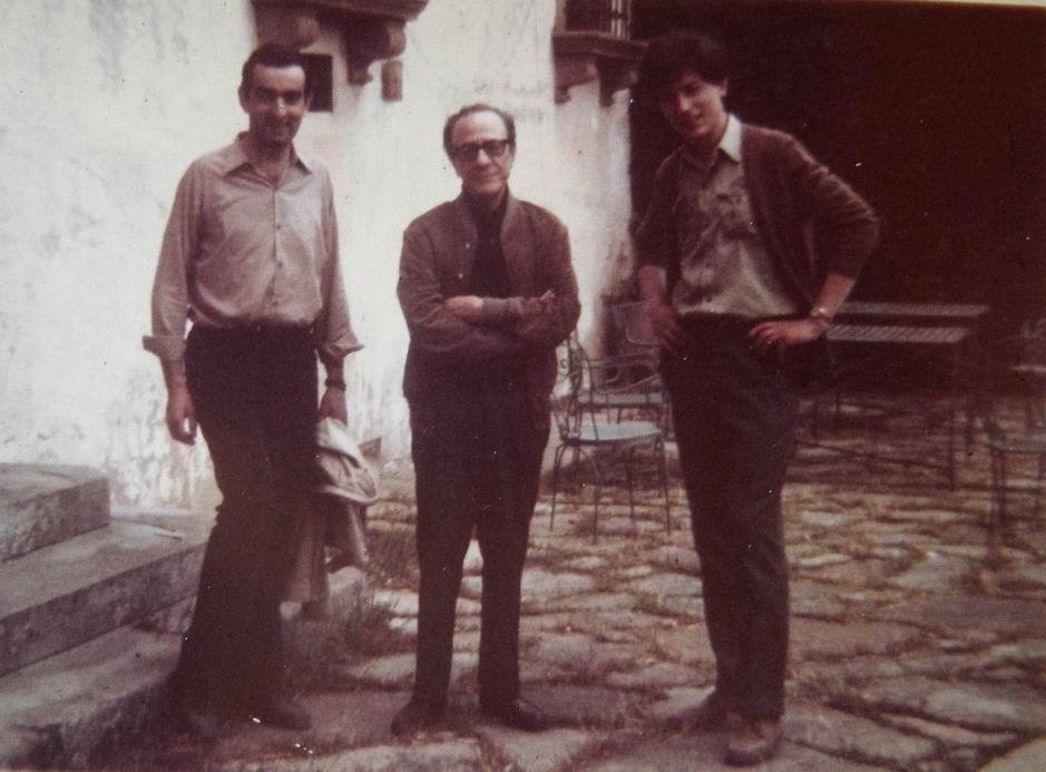 1969 Fiesole, con il Maestro Futurista Primo Conti e il Pittore Erminio Poretti