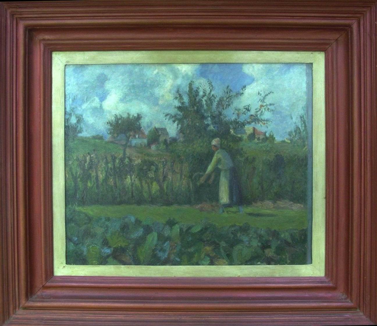 1971-COPIA DA PISSARRO, Nell'orto, Galleria d'Arte Moderna PALAZZO PITTI cm.55x45