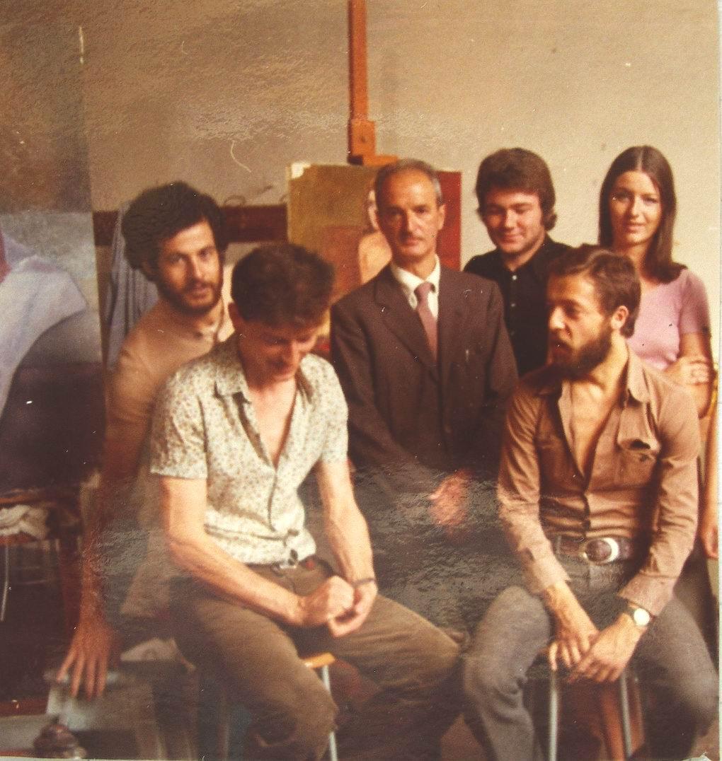 1973 Firenze, Accademia di Belle Arti, con il Maestro Goffredo Trovarelli