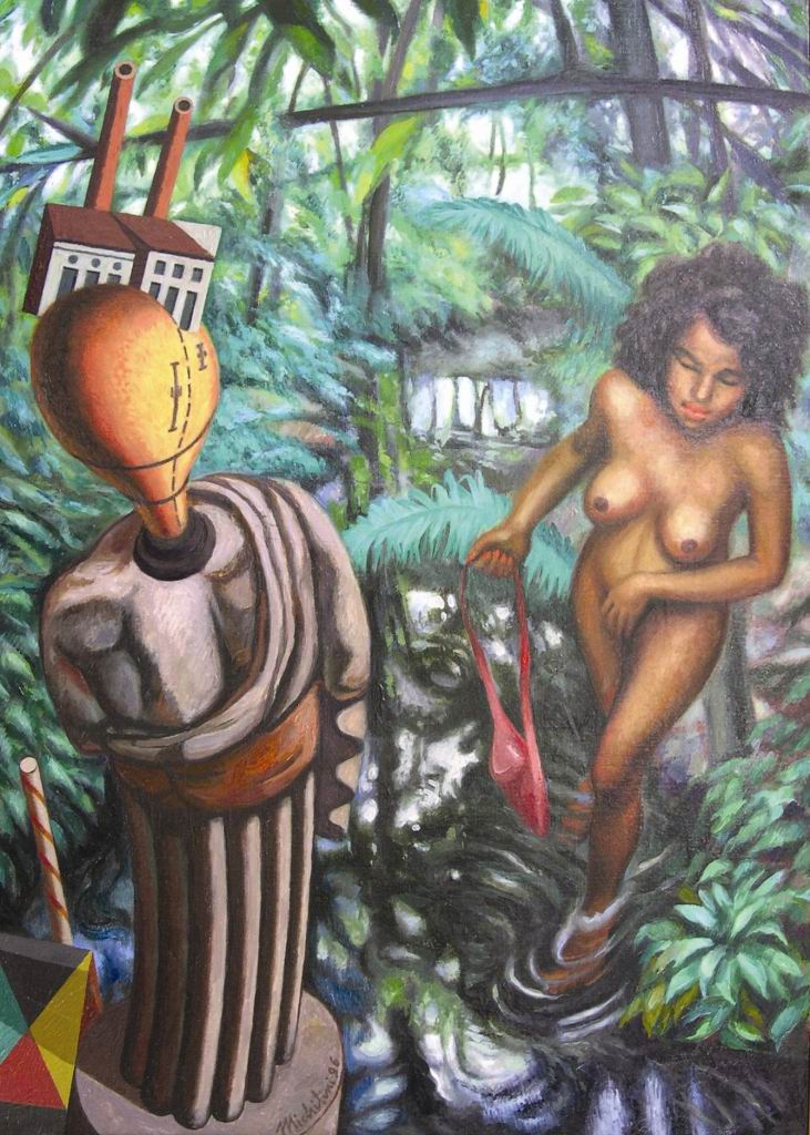 Michilini, LAS MUSAS INQUIETANTES 1916-1996, olio su tela, cm.70x50