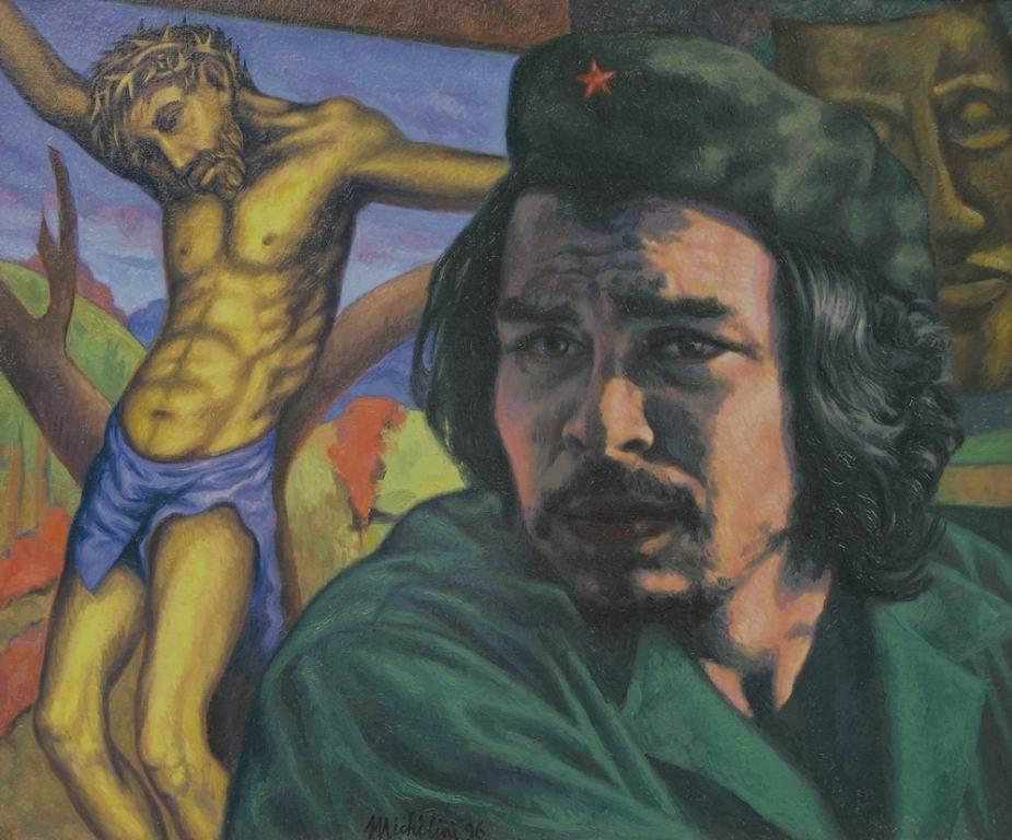 Michilini, 1996, CHE GUEVARA CON EL CRISTO AMARILLO, cm.60x70