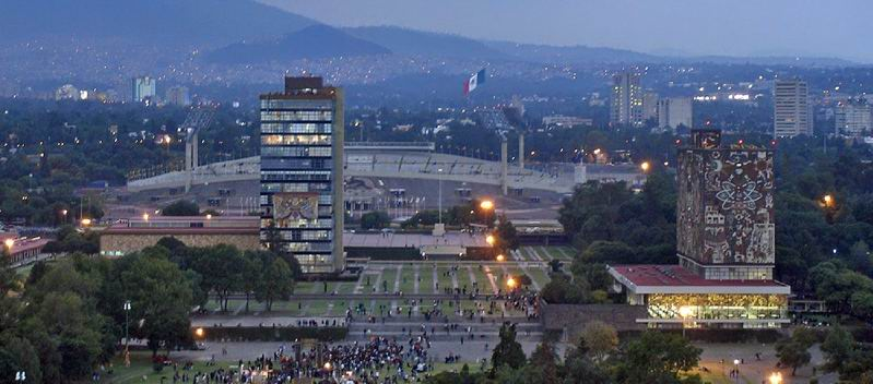 CIUDAD UNIVERSITARIA EN MEXICO CITY
