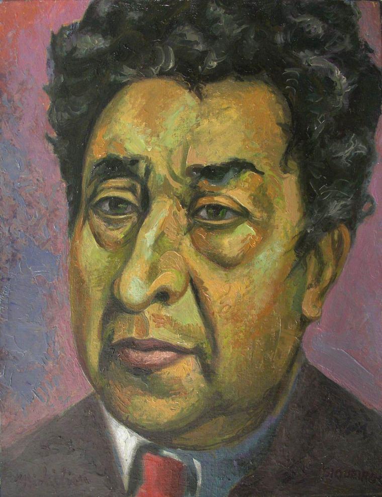 "Sergio Michilini, ""David Alfaro Siqueiros"", 2007, oleo sobre tela"