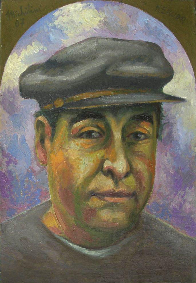 """Sergio Michilini, """"Pablo Neruda"""", 2007, oleo sobre tela"""