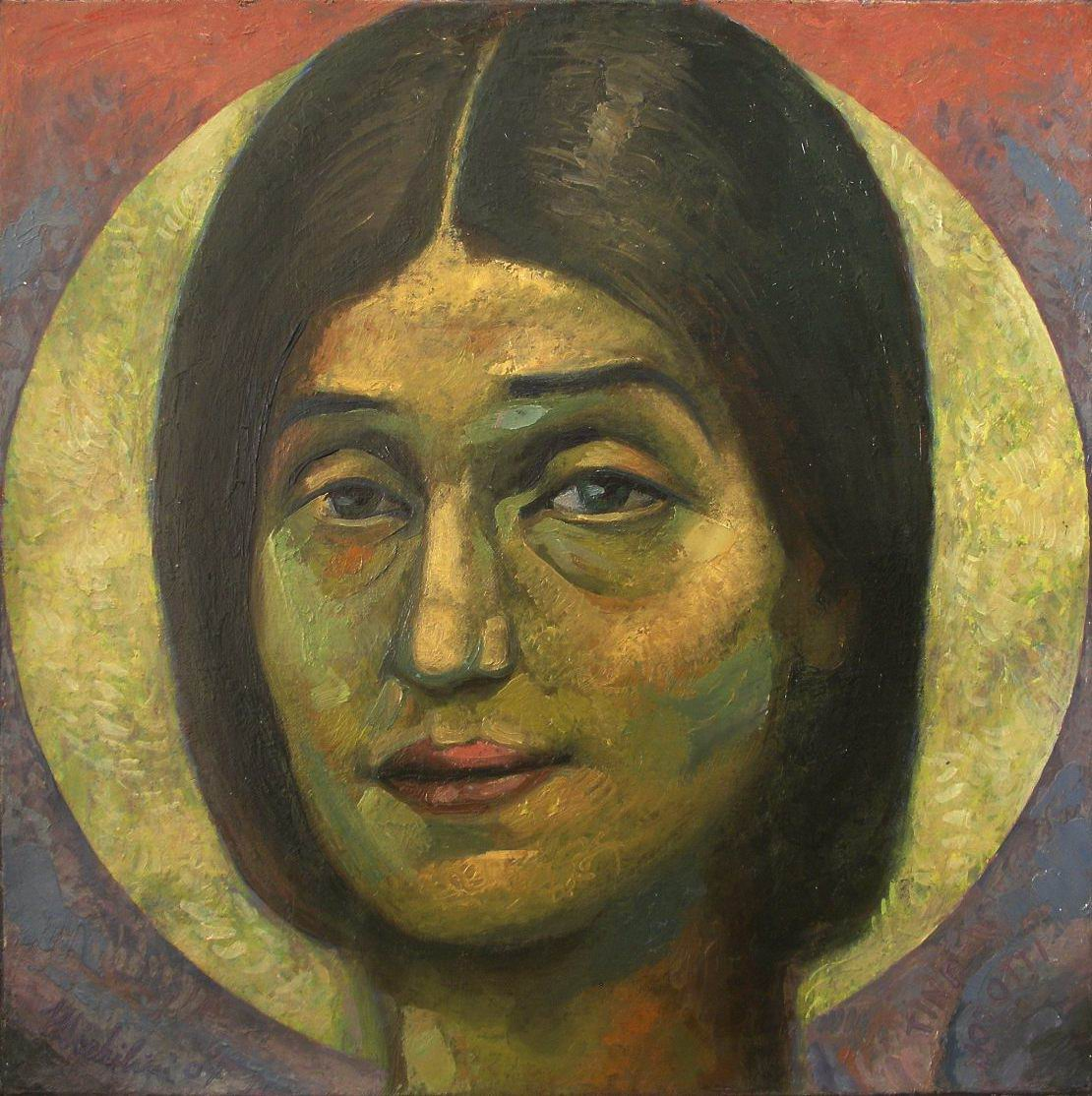 """Sergio Michilini, 2007, """"Retrato de Tina Modotti"""", oleo sobre tela, cm45x45"""