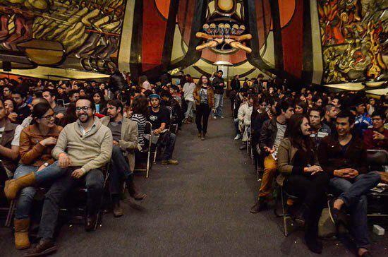 Interior del Polyforum Cultural Siqueiros en Mexico D.F.