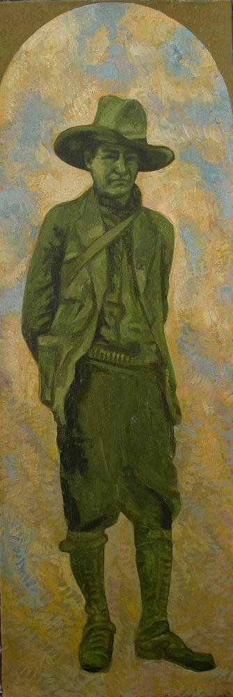 "Sergio Michilini,2007, ""Augusto C. Sandino"", oleo sobre tela, cm80x27"