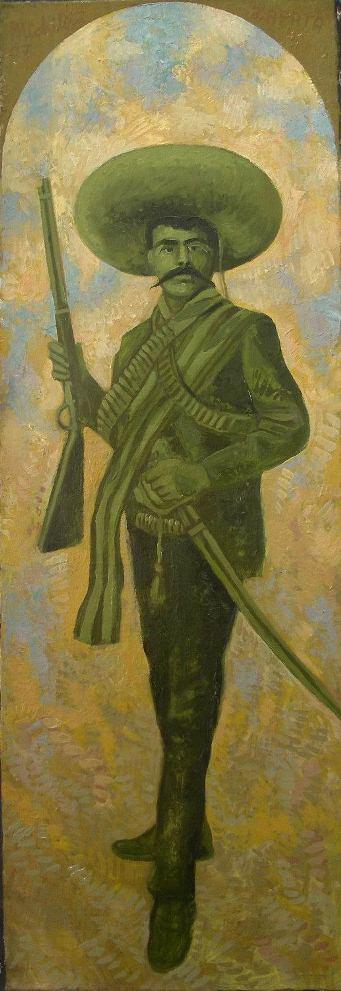 """Sergio Michilini, """" Emiliano Zapata"""", 2007, oleo sobre tela"""